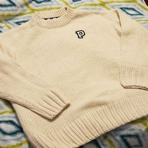 NWT PINK cream color knit sweater